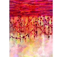 PRISMACOLOR PEARLS 3 Colorful Watercolor Abstract Painting Marsala Red Hot Pink Chic Pastel Fine Art Photographic Print