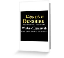 Cones of Dunshire sequel, Winds of Tremorrah. Greeting Card