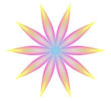 Rainbow Flame Flower Pattern Kaleidoscope 04 Photographic Print