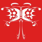 Psychedelic Butterfly (White) by Travis Callahan
