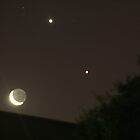 Jupiter, Venus & Moon by Tony Waite-Pullan