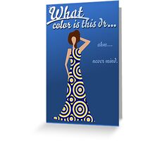 What color is this dress? Greeting Card
