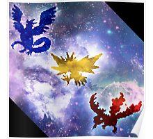 Legendary Galaxy Birds Poster