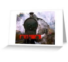 The Train Leaving Greeting Card