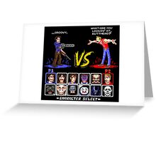 Super 80's Good Vs. Evil 2! Greeting Card