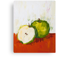 Inside the Green Apple Canvas Print