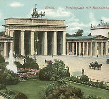 Berlin Pariser Platz and Brandenburger Tor by Klaus Offermann