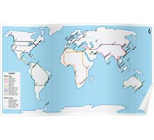 Rail Map of the World Poster