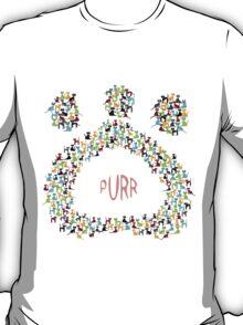 Paw shapped coloreful cats pattern T-Shirt