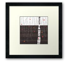 the last of the leaves Framed Print