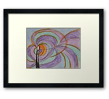 Imagination, Abstract Colored Pencil Drawing, Pastel Colors Framed Print
