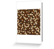 Coffee pattern Greeting Card