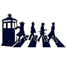 Tardis Road - Blue by teeshirtninja