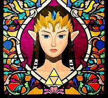 Stained Glass Princess Zelda by enthousiasme