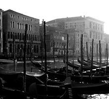 Gondolas In Venice by klindy7