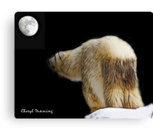 Debbie and the moon Canvas Print