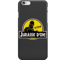 Homer Simpson - Jurassic D'oh! iPhone Case/Skin