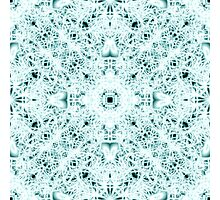 """""""Spirit of India: Two Crosses"""" in white and turquoise Photographic Print"""