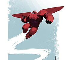 Baymax in the sky! by Julien Missaire