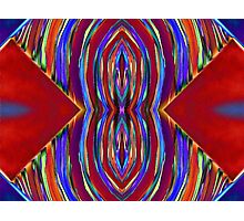 Psychedelic Red Flare Circles Photographic Print