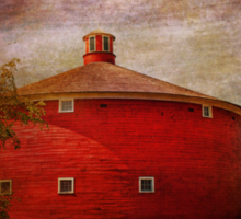 Farm - Barn - Red round barn  Sticker
