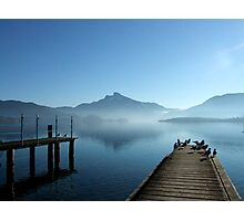 Morning fog at the Mondsee  Photographic Print