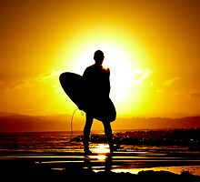 Sunset Surfer by Ryan Lait