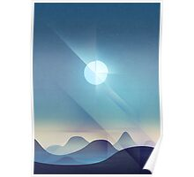 Northern Lights Abstract Poster