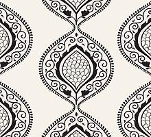 Black luxury ornamental pattern by LourdelKaLou
