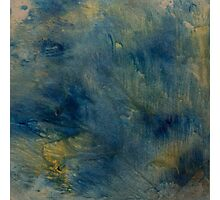 Abstract Blue and Gold Photographic Print