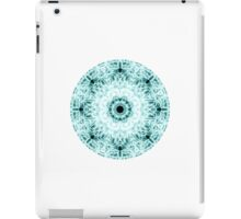 """Spirit of India: Two Crosses - Diamond"" in white and turquoise iPad Case/Skin"