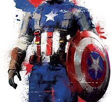 """""""Captain America"""" Splatter Art by KYCollectibles"""
