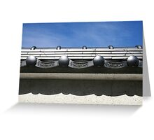 Silvery Roof Greeting Card