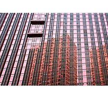 pink window reflection Photographic Print
