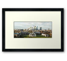 The Queen's House and Canary Wharf Framed Print