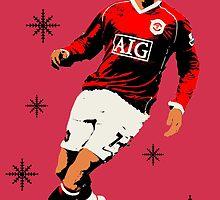 Cristiano Ronaldo Christmas Card/Art by Laura Perkins