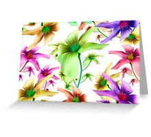 Multicolored Floral Print Pattern Greeting Card