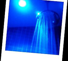 blue shower by Ashley Justiniano