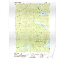 Maine USGS Historical Map Third Musquacook Lake 103028 1986 24000 Poster