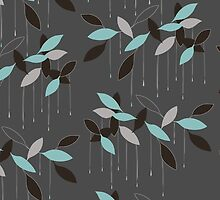 Abstract seamless pattern with leaves by LourdelKaLou