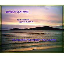 Sunrise/Sunset Scapes Banner Photographic Print