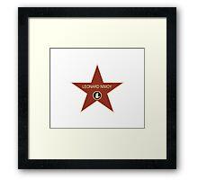 Leonard Nimoy Walk of Fame Framed Print