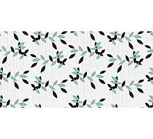 Abstract seamless pattern with blue leaves Photographic Print