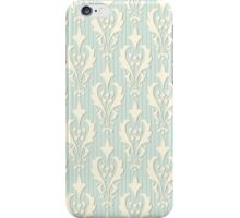 Vintage wallpaper. Delicate veil-like pattern. iPhone Case/Skin