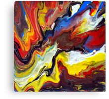 Explosive Abstract Painting Canvas Print