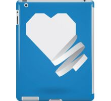 Paper heart with ribbon iPad Case/Skin