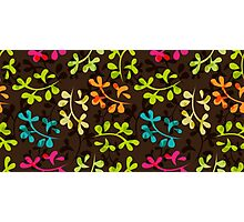 Cute floral pattern with leaves Photographic Print