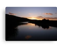 Swan Park Sunset Bellerena Co. Derry  Ireland  Canvas Print