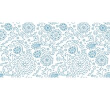 Abstract floral pattern. Cute hand drawn design elements Photographic Print