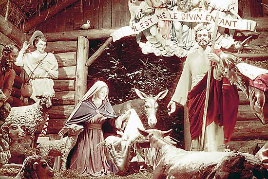 Nativity Scene, Montreal, 1955 by George Cousins